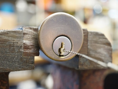 broken key in rim cylinder lock